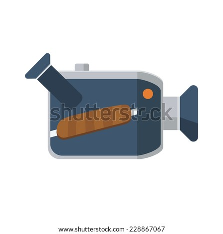 Video camera flat icon, vector logo ilustration - stock vector