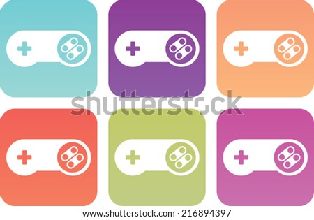 video game controller graphic icon - stock vector