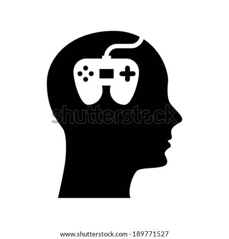 Video game design over white background, vector illustration - stock vector