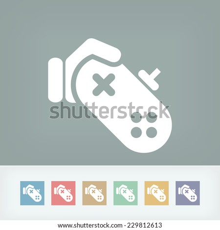 Video game icon - stock vector