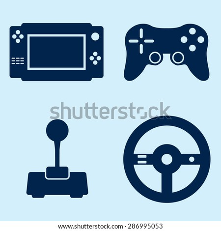 Video Game Icons Set - stock vector
