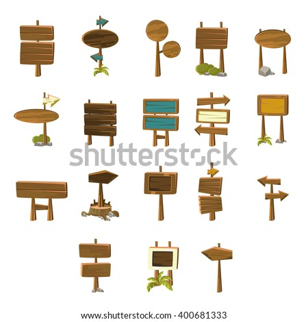 Video Game Pointers  Flat Vector Design Icons Set Of Isolated Items on White Background - stock vector