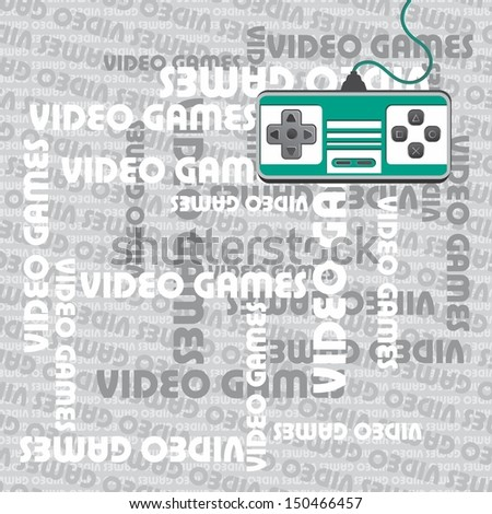 video game theme silver art page - stock vector