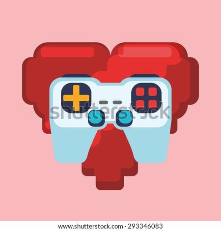 Video games digital design, vector illustration 10 eps graphic - stock vector
