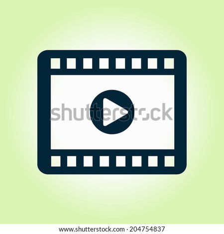 Video icon. Flat design style. Vector EPS 10. - stock vector