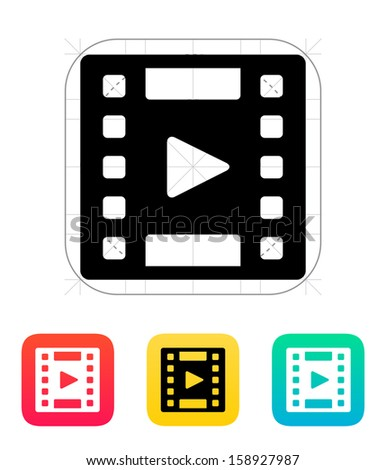 Video icon. Vector illustration. - stock vector