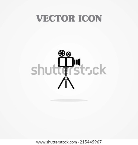 Video Icon with Tripod - stock vector
