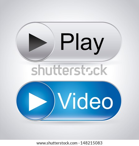video labels over gray background vector illustration  - stock vector