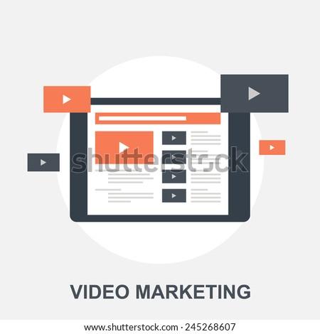 Video Marketing - stock vector