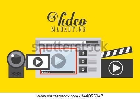 video marketing design, vector illustration eps10 graphic  - stock vector
