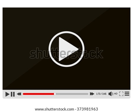 Video media player - stock vector