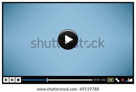 Video Movie Media Player - stock vector