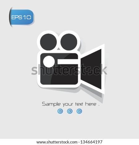 Video,Movie sign,vector - stock vector