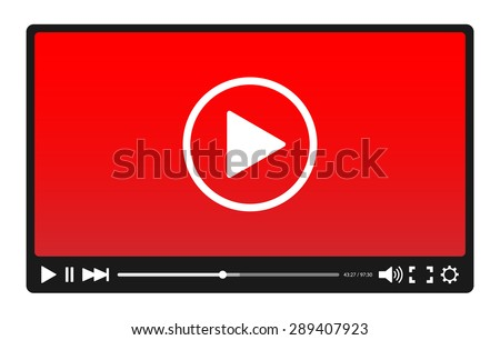 Video player - stock vector