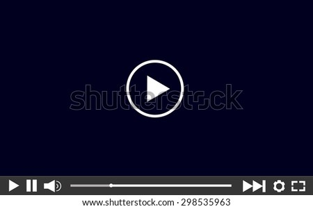 Video player template for web,  vector illustration - stock vector