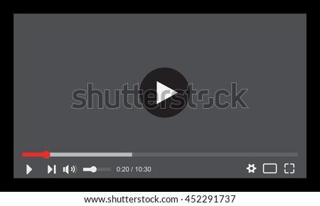 Video player, Vector - stock vector