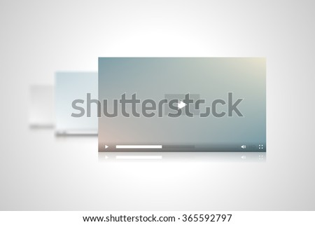 Video Players Interfaces Vector Illustration - stock vector