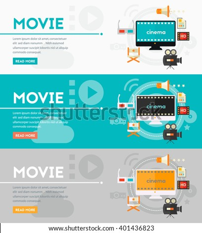 Video Production and Motion Graphic Concept - stock vector