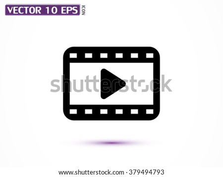 Video  vector icon - stock vector