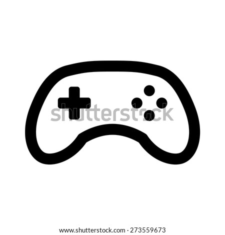 Videogame / video game controller or gamepad line art icon for apps and websites - stock vector