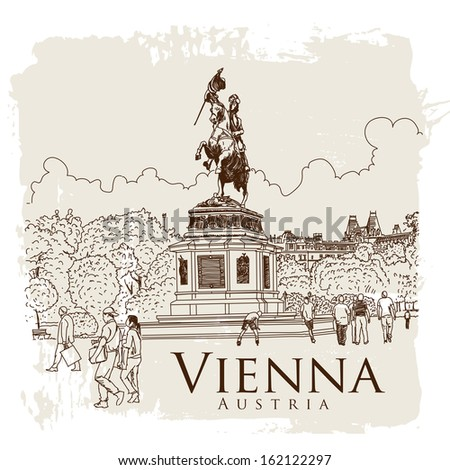 Vienna, Austria. Vector drawing. - stock vector
