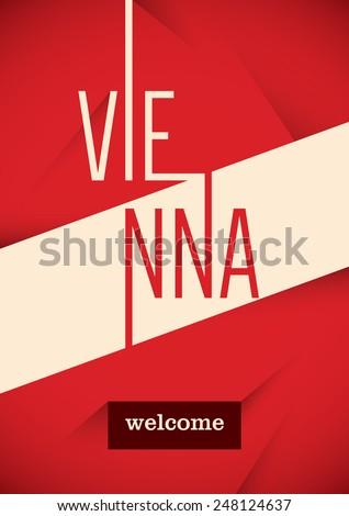 Vienna poster design. Vector illustration. - stock vector