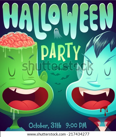 Vimpire mouth. Halloween poster \ background \ card. Vector illustration. - stock vector