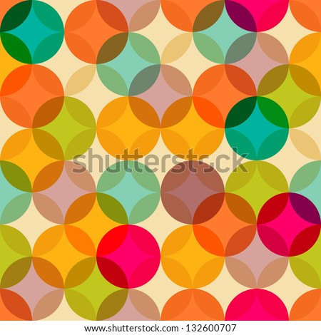 Vintage abstract seamless pattern - stock vector