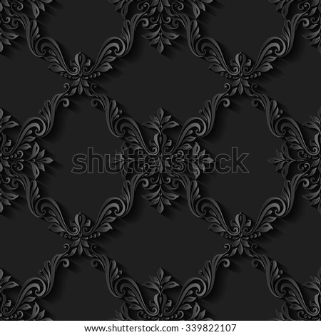 Vintage abstract seamless pattern background  floral foliage - stock vector