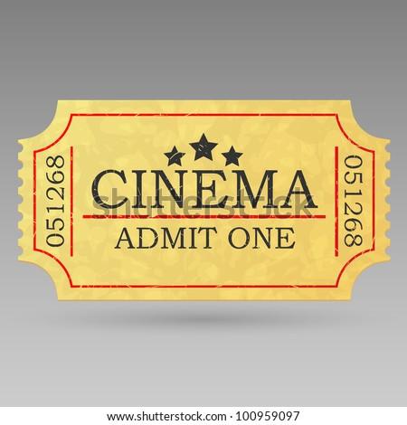 Vintage admit one ticket. Vector illustration. - stock vector