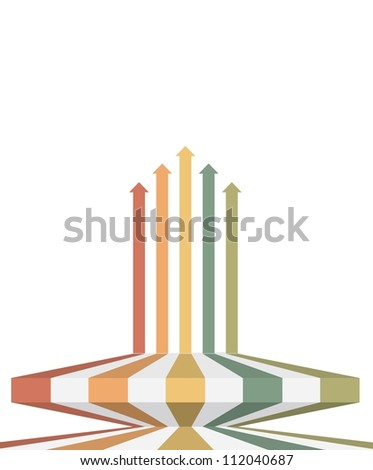 Vintage arrows - Infographic background - stock vector