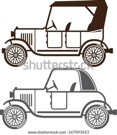 Vintage automobile - stock vector