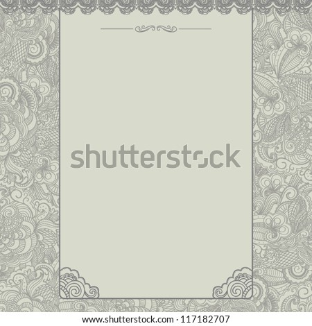 Vintage background. Floral template - stock vector