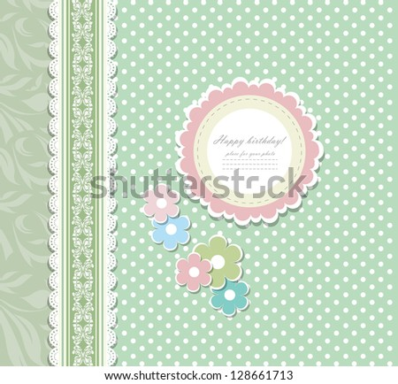 Vintage background for invitation, backdrop, card, new year brochure, banner, border, wallpaper, template, texture vector eps 10 - stock vector