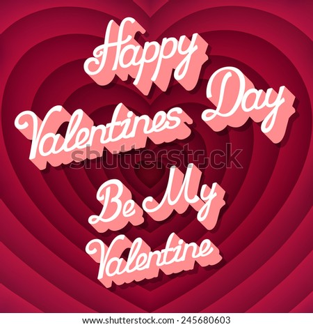 Vintage background for Valentines day, in style of retro movie about love ending screen, EPS 10 contains transparency and mesh. - stock vector