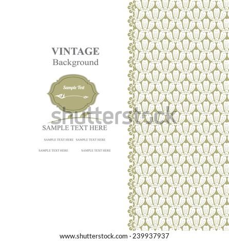 Vintage background. thai pattern vector illustartion  - stock vector