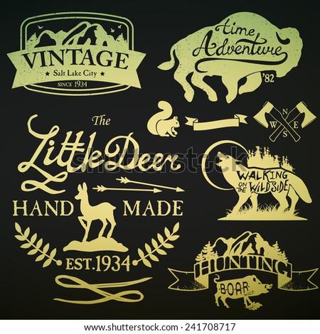 Vintage Badges - stock vector