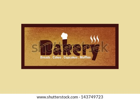 Vintage bakery label and logo - stock vector