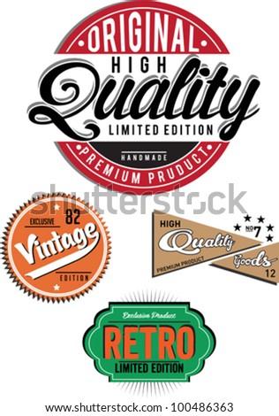 Vintage Banner - stock vector