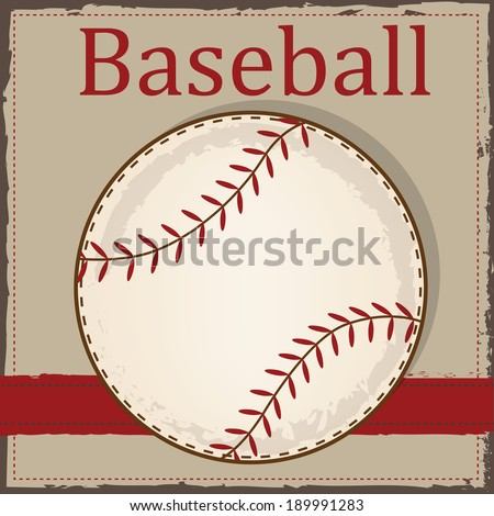 Vintage baseball layout for scrapbooking, cards or backgrounds, vector format - stock vector