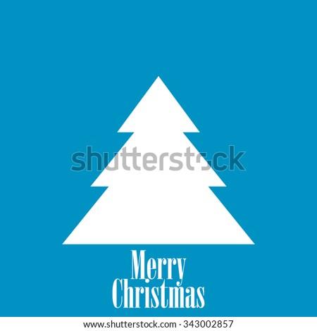 Vintage Blue Christmas Card - stock vector