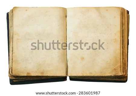 vintage book, vector - stock vector