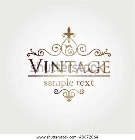 Vintage borders - stock vector