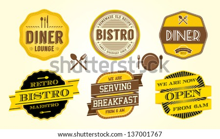 Vintage Cafe Badge - stock vector