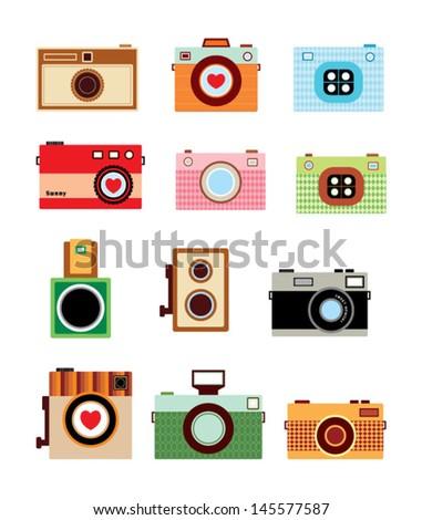 vintage camera vector - stock vector