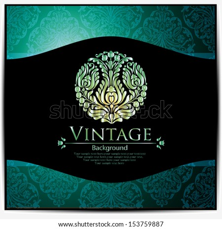 Vintage card design for greeting card, invitation, menu - stock vector