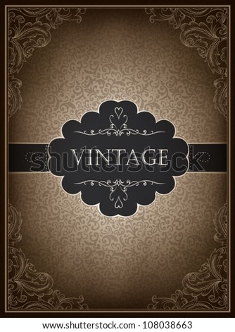 Vintage card design template, vector. - stock vector