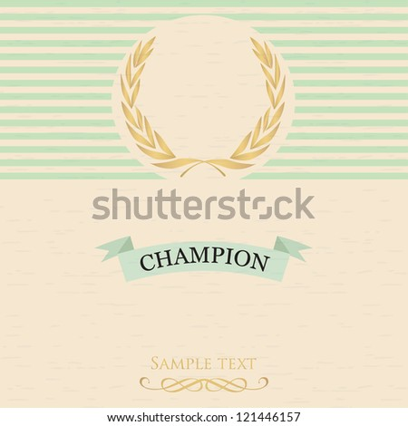 Vintage card with the image of a laurel wreath - stock vector