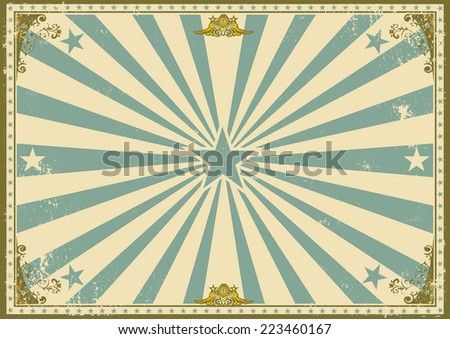 vintage certificate horizontal background. A vintage poster with sunbeams for your advertising. Perfect size for a screen. - stock vector