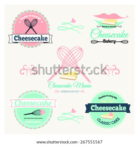 Vintage cheesecake label. - stock vector